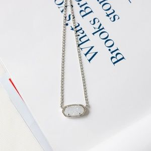 Kendra Scott Elisa silver Drusy Necklace New